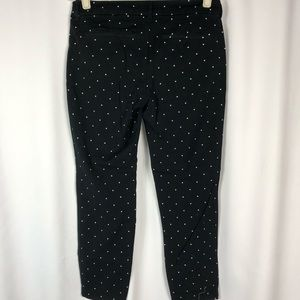 Old navy black with white polka dots pixie pants